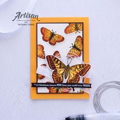 Largest Butterfly, Butterfly Cards, Monarch Butterfly, Watercolor Paper, Stampin Up, Artisan, Wings, Paper Crafts, Creative