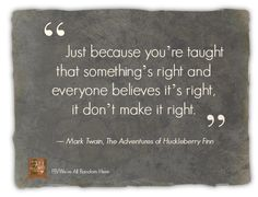 Quotes about trust in Huckleberry Finn?