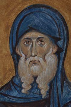 St Anthony the Great Anthony The Great, Bible Pictures, Church Interior, Byzantine Icons, Catholic Saints, High Art, Orthodox Icons, Sacred Art, Christian Art