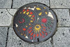 Японские канализационные люки