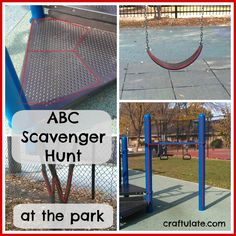 Craftulate: ABC Scavenger Hunt at the Park