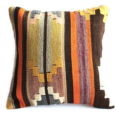Nightshades Kilim Pillow #desert-purple-kilim-pillow #dust-storm-kilim-pillow #home-goods #kilim #mountain-kilim-pillow #pastel-kilim-pillow