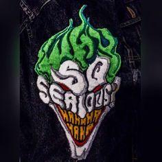 Why so serious? #mrj #joker #batman #batmanvillains #whysoserious #freak #dc #dccomics #fanart #bordado #bordadoamano #handmade #embroidery #embroideryart #fashion #fashiondesigner