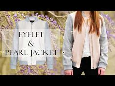 Eyelet & Pearl Jacket Casual Vintage Look. How to customize your bomber jacket? More on fashion-utopia.com