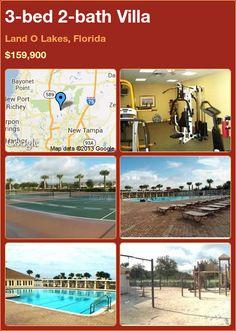 3-bed 2-bath Villa in Land O Lakes, Florida ►$159,900 #PropertyForSale #RealEstate #Florida http://florida-magic.com/properties/6105-villa-for-sale-in-land-o-lakes-florida-with-3-bedroom-2-bathroom