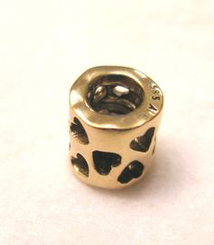 Pandora 14k 585 Ale TUNNEL of LOVE Charm #750299- Retail 350 USD- Retired Rare Sale!!! by 12Treasures12 on Etsy