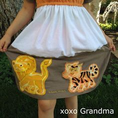 Lions and Tigers and Bears Dress