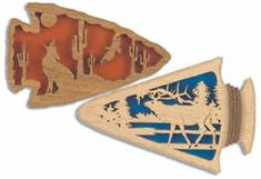 All Decorative Indoor - Arrowhead Coyote & Bull Elk Scroll Saw Patterns Scroll Pattern, Scroll Saw Patterns, Wood Patterns, Bull Elk, Got Wood, Cnc Projects, Animal Silhouette, Bear Paws, Stencil Art