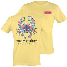 Simply Southern Preppy Sunrise Crab Sea T-Shirt