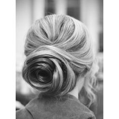 Up-do for long thick hair. Hairstyles and Beauty Tips ❤ liked on Polyvore
