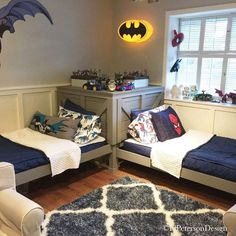 12 Cool Toddler Twin Bed Ideas for Parents Looking for toddler bed ideas? Here are 12 Cool Toddler Twin Bed Ideas for Parents! Shared Boys Rooms, Shared Bedrooms, Little Boys Rooms, Kids Rooms, Kid Bedrooms, Basement Bedrooms, Boys Bedroom Decor, Girls Bedroom, Boys Bunk Bed Room Ideas