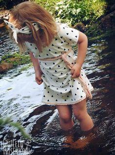 Kostenloses Schnittmuster Quatschkopf Kleid/Dress von MamaMotz Free Pattern für Mädchen/Girls