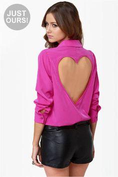 Holy cuteness :)  #heart #pink #buttonup