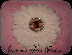 Tangled Inspired Flower Hair Clip4 Inch White by Emmandjensflowers, $5.00