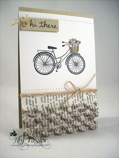 Love the bicycle, love the ruffles!