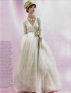 tulle ball skirt + cashmere cardigan by luly yang in seattle bride magazine, fall/winter 2012.  LOVE