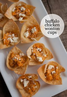 This Heart of Mine  ::  Buffalo Chicken Wonton Cups  :: Perfect for the Super Bowl!  #gohawks