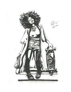 ArtStation - Inked ladies, Gabriella Jardine