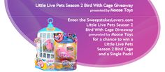 This month, we are once again partnering up with Moose Toys to offer you the chance to win a Little Live Pets Season 2 Bird with Cage prize package in the Little Live Pets Season 2 Bird with Cage Giveaway!