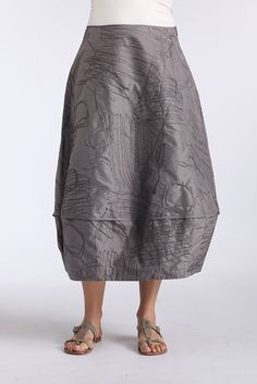 Oska - silk. Love the random surface stitching
