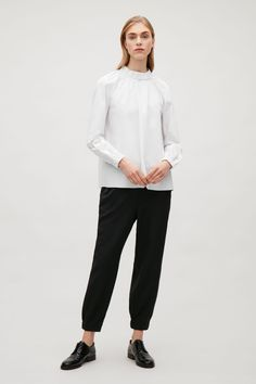 COS image 1 of Top with elastic details in White