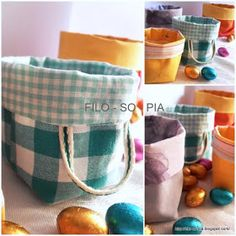filo-so-pia: Cestini di stoffa Sewing Tutorials, Sewing Crafts, Sewing Projects, Projects To Try, Sewing Ideas, Dolly House, Clothespin Bag, Fabric Boxes, Sewing Baskets