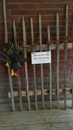 Tobacco stick fence
