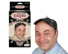 Inflatable Toupee - Also can be used as a floatation device in the case of a water landing.