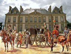 Napoleone scende dalla carrozza