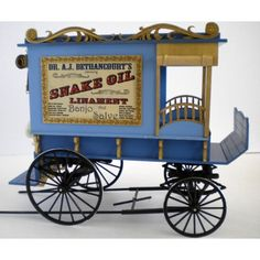 Wagon maker Terry Harville- Peddlers Wagon 1:12 scale