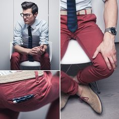 Nicely done outfitted Nantucket red chinos.