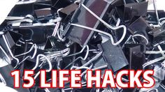 100均のダブルクリップでできる15のコト [DIY] 15 Life Hack things do with binder clip【まとめライフハック動画】バインダークリップ - YouTube