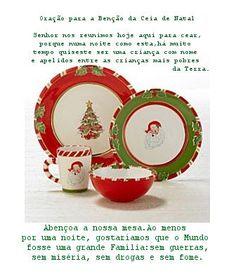 Oração para a Benção da Ceia de Natal:... Amém!