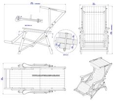 Beach chair plan - Assembly drawing