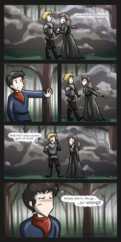 Merlin: Lucky Gust Of Wind by *Star-Jem on deviantART. xD<<<< The whole fricking series. Merlin Funny, Merlin Memes, Merlin Merlin, Merlin Quotes, Merlin Fandom, Merlin Colin Morgan, Merlin And Arthur, Superwholock, Supernatural