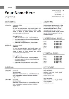 134 best classic resume templates images on pinterest in 2018