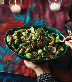 Charred Brussels Sprouts With Spicy Lime Dressing