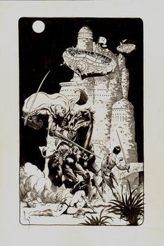 Comic Art For Sale from RomitaMan Original Art, John Carter / Nude Dejah Thoris Published Pinup by Comic Artist(s) Mark Schultz