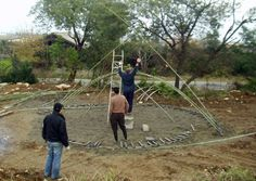 bamboo construction Bamboo Structure Project, Iran by Pouya Khazaeli Parsa. www.archdaily.com