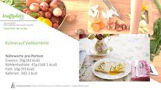 Rührei auf Brot, super easy und auch ausbaufähig je nach Bedürfnissen😀 Super, Table Decorations, Vegetables, Easy, Food, Brown Bread, Food Portions, Recipies, Essen