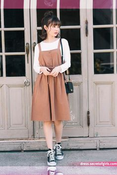 Pin by Zexal Princess on Comfy outfits in 2020 Modest Dresses, Modest Outfits, Skirt Outfits, Casual Outfits, Korean Outfits Cute, Korean Fashion Trends, Korean Street Fashion, Asian Fashion, Fashion Guide
