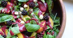Nectarine Salad With Blackberry Dressing