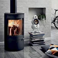 Etonnant Westfire Uniq 21 Wood Burning Stove The Uniq 21 Standard Is A Beautifully  Cylindrical Stove That. Wood Burning StovesGlass DoorsThe Large