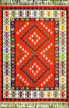 So lucky to own one of these handmade rugs from Pirot, Serbia