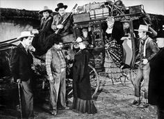 STAGECOACH - Claire Trevor - John Wayne - Andy Devine - John Carradine - George Barcroft - Based on story by Ernest Haycox - Produced by William Wanger - Directed by John Ford - United Artists - Publicity Still. Citizen Kane Movie, Stagecoach 1939, Westerns, Claire Trevor, John Carradine, It Happened One Night, John Ford, Actor John, Best Supporting Actor