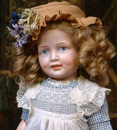 18.5  Super Rare Simon & Halbig 151 Character Child with Smiling expression