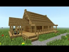 How to build a fast wooden house - Minecraft House Design Minecraft House Designs, Cool Minecraft Houses, Minecraft Blueprints, Minecraft Buildings, Minecraft Structures, Minecraft Medieval, Amazing Minecraft, Minecraft Creations, Minecraft Pictures