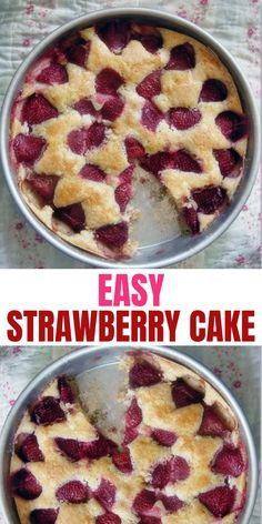 Easy Strawberry Cake Recipe!