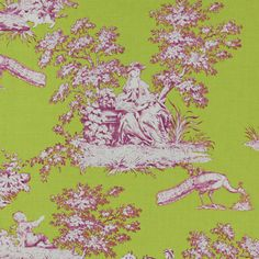 Toile French Cottage 4 - Cotton - lime green