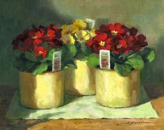 "Linda's Witness in Art: ""Primroses"""